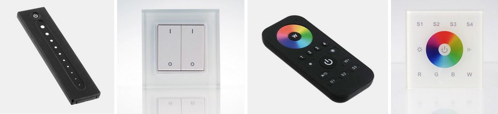 Bild: Fernbedienungen zur LED-Steuerung