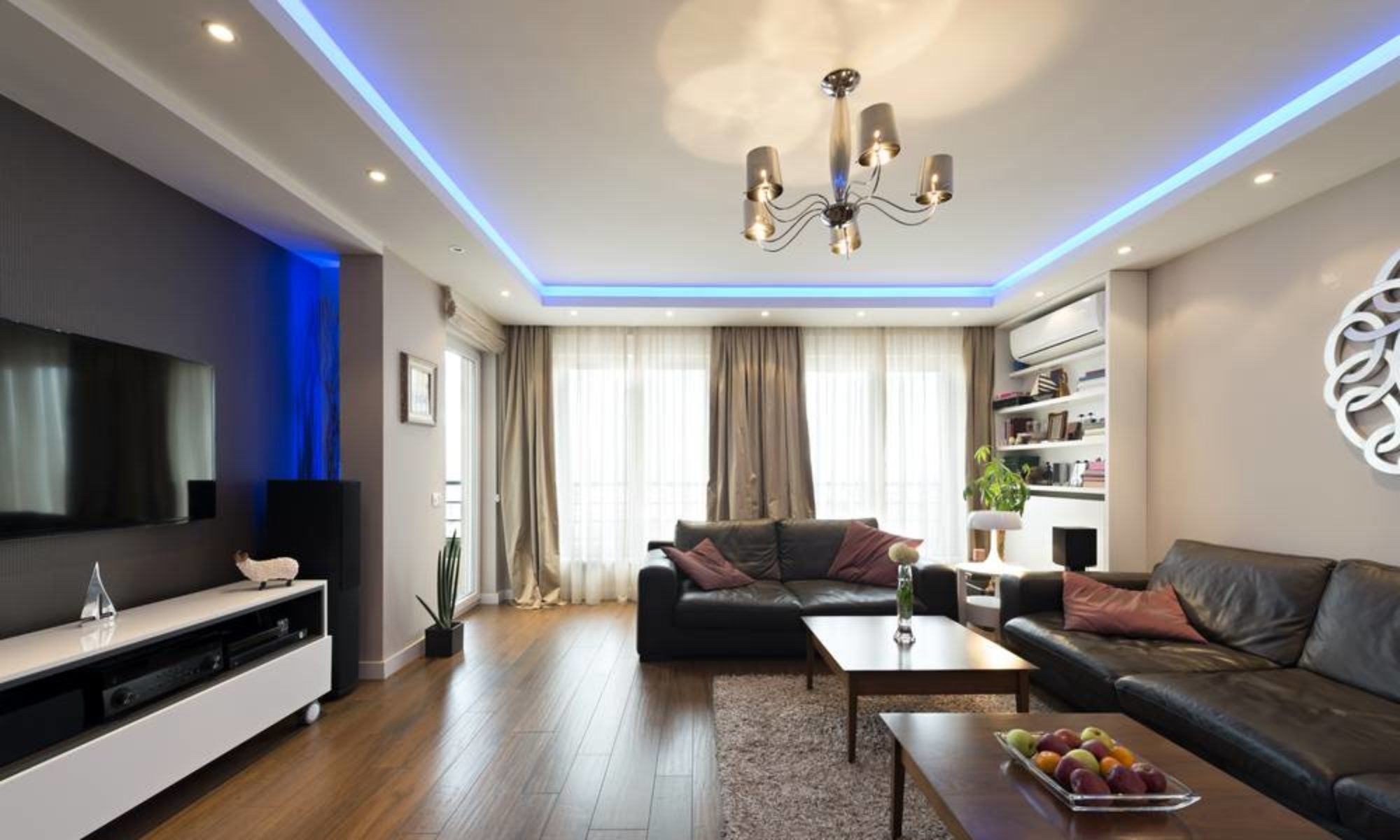 Beleuchtung Wohnzimmer Decke Spots